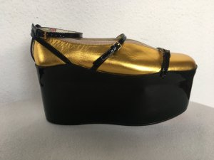Gucci Scarpa slip-on nero-oro Pelle