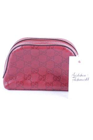 Gucci Bolso tipo pochette rojo oscuro Patrón monograma estilo clásico