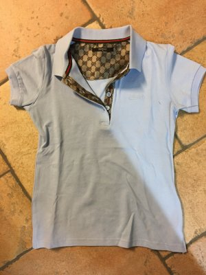Gucci Polo Shirt pale blue cotton