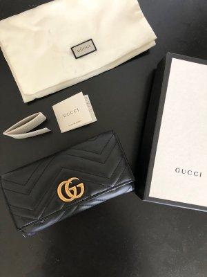 Gucci Portemonnaie marmont schwarz Gold