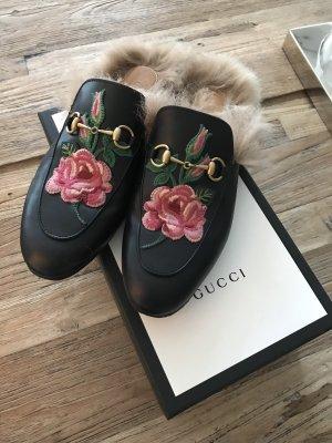 Gucci Princetown 38,5 Flower Blumen Fell