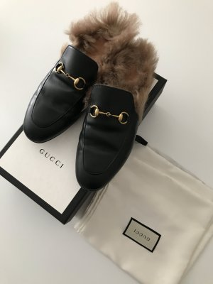 Gucci Princetown Loafer Schwarz Fell