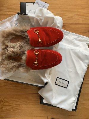 Gucci Mocassino rosso scuro Lana
