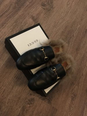 Gucci Zapatos sin cordones negro-color oro