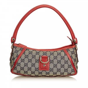 Gucci Printed Canvas Baguette