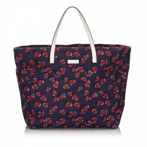 Gucci Printed Canvas Tote Bag
