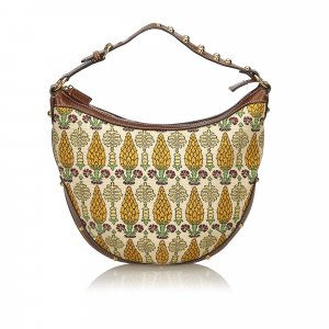 Gucci Printed Cotton Hobo Bag