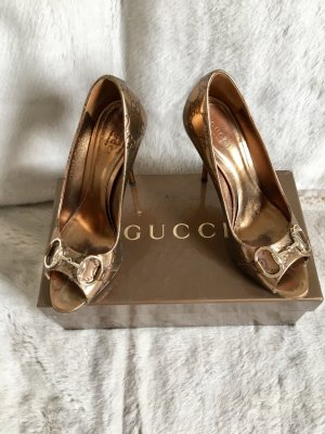 Gucci High Heels gold-colored