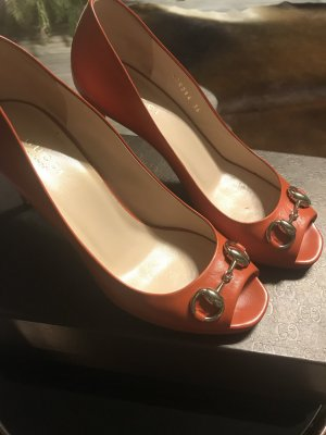Gucci Stiletto orange-cognac