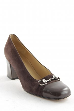 Gucci Pumps dark brown retro look