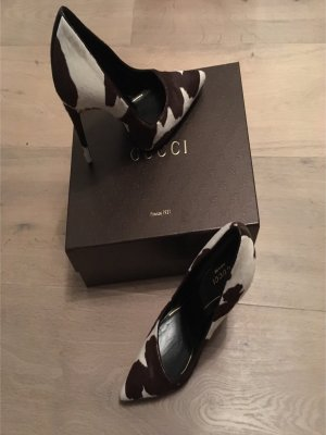Gucci Pumps Kuh-Print