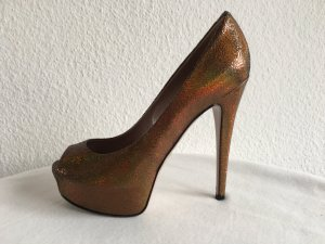 Gucci, Pumps, Leder, bronze, 38, neuwertig, € 690,-