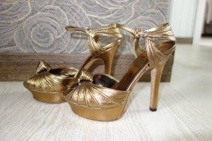 Gucci Talons hauts doré cuir