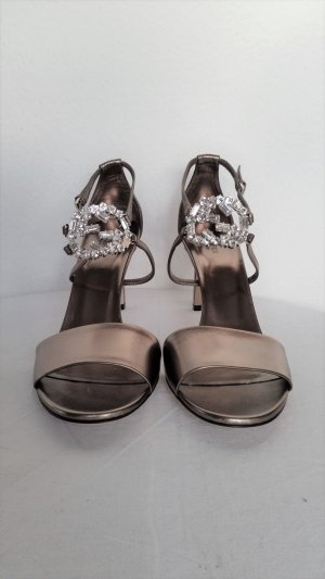 Gucci, Pumps, Leder, platingold, 42, neu, € 690,-