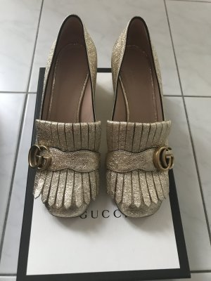Gucci Pumps Marmont in Gold