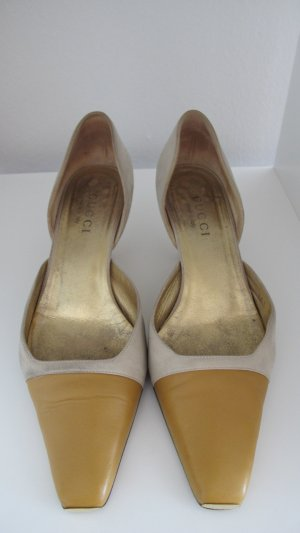 GUCCI Pumps mit Metallspitze gold Gr. 37,5 - 38
