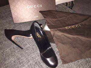 Gucci Pumps schwarz Leder