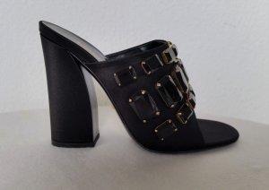Gucci, Pumps, Seide, schwarz/gold, 38,5, neu, € 950,-