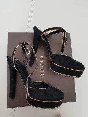 Gucci Hoge hakken zwart-brons Leer