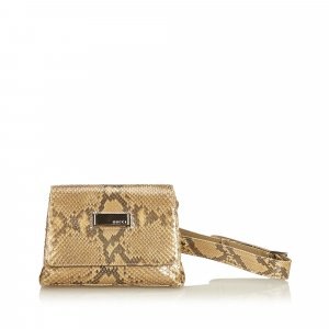 Gucci Bumbag beige reptile leather