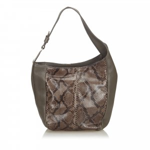 Gucci Python Leather Greenwich Shoulder Bag