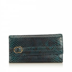 Gucci Python Leather Long Wallet