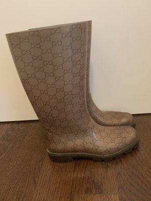 Gucci Botte en caoutchouc brun-marron clair
