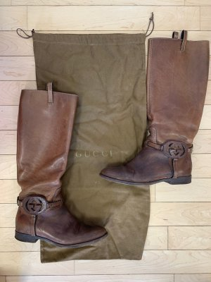 Gucci Riding Boots brown