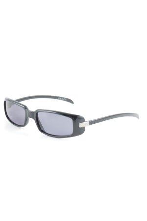Gucci Retro Brille schwarz-blau 90ies-Stil