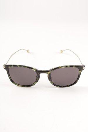 Gucci Retro Brille schwarz-waldgrün Tortoisemuster Casual-Look