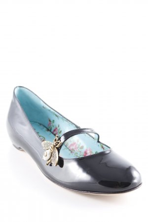"Gucci Strappy Ballerinas ""Patent Leather Ballet Flat With Bee Black"" black"