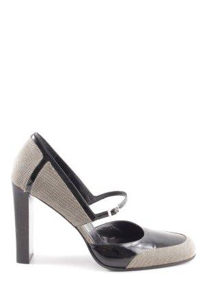 Gucci Riemchenpumps schwarz-wollweiß Elegant