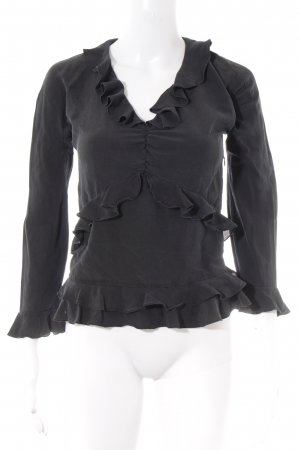 Gucci Ruffled Blouse anthracite romantic style