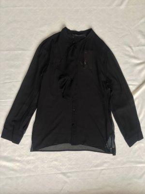 Gucci, Rüschen-Bluse, schwarz, Seide, 46, neu, € 900, -