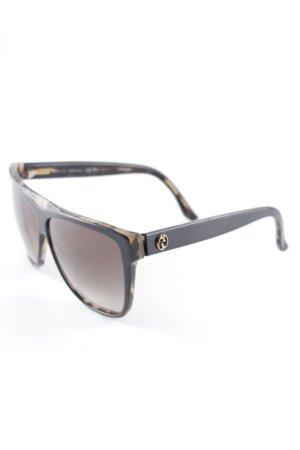 Gucci runde Sonnenbrille hellbraun-schwarz Farbverlauf klassischer Stil