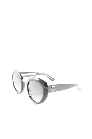 Gucci runde Sonnenbrille schwarz klassischer Stil