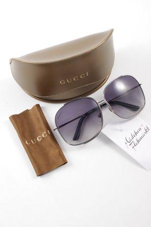 Gucci runde Sonnenbrille silberfarben
