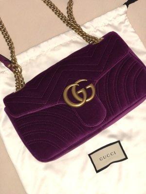 Gucci Samt Marmont mit Rechnung Top Lila Pink