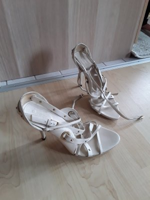Gucci Strapped Sandals white leather
