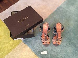 Gucci Sandalo color oro rosa-blu pallido Pelle