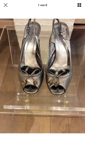 Gucci Sandalette Gr: 36 Farbe: Silber