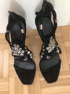 Gucci Sandalen met bandjes en hoge hakken zwart