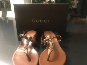 Gucci Entre-doig à talon haut bronze cuir