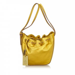 Gucci Satin Drawstring Handbag