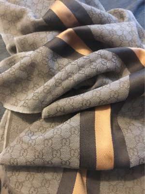 Gucci Fringed Scarf sand brown-cognac-coloured
