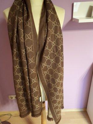 Gucci Wollen sjaal lichtbruin Wol