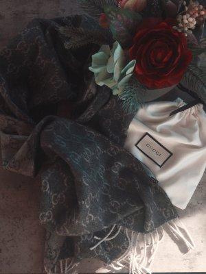 Gucci Bufanda de cachemir gris claro-gris