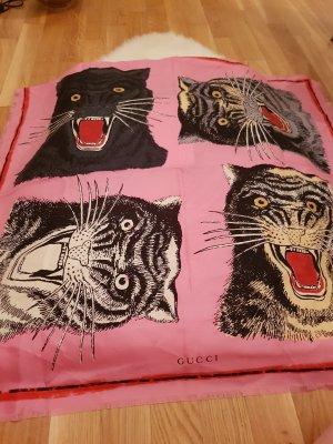 Gucci Schal aus Seide mit Tigerprint