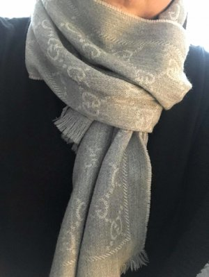 Gucci Knitted Scarf silver-colored-grey