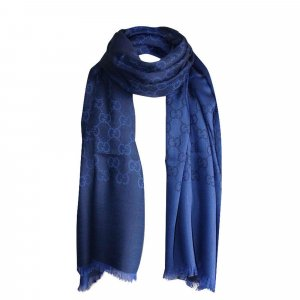 Gucci Schal aus Wolle und Seide, Blau